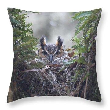 Throw Pillow featuring the photograph Peek-a-boo Whoooo by Myrna Bradshaw