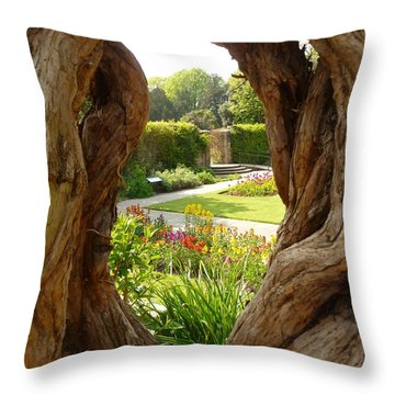 Throw Pillow featuring the photograph Peek At The Garden by Vicki Spindler