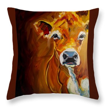 Peek Cow Throw Pillow