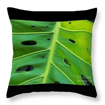 Peekaboo Leaf Throw Pillow by Ann Horn