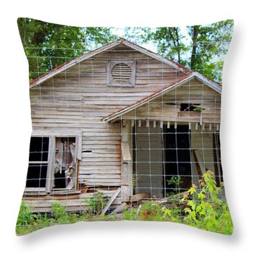 Peeking In At The Past Throw Pillow