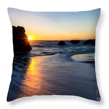 Throw Pillow featuring the photograph Peeking Sun by CML Brown