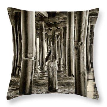 Peeking Under The Pier By Diana Sainz Throw Pillow