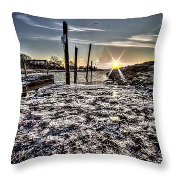 Throw Pillow featuring the photograph Peekskill Ny Sunset by Rafael Quirindongo
