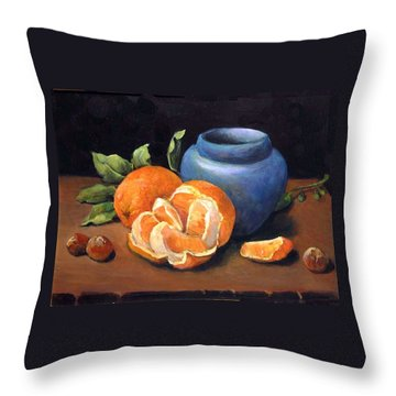 Peeled Orange Throw Pillow