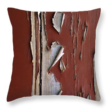 Peeling Paint Throw Pillow by Carlos Caetano