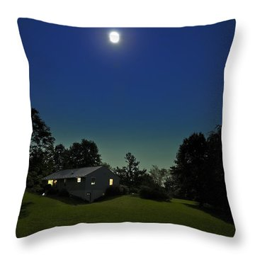 Throw Pillow featuring the photograph Pegasus And Moon by Greg Reed