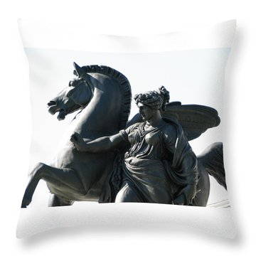 Pegasus Throw Pillow by Christopher Woods