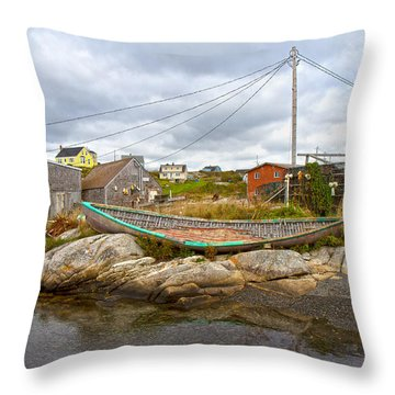 Peggy's Cove 10 Throw Pillow by Betsy Knapp