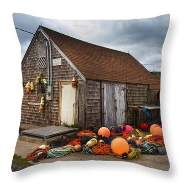 Peggy's Cove 15 Throw Pillow by Betsy Knapp