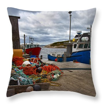 Peggy's Cove 18 Throw Pillow by Betsy Knapp