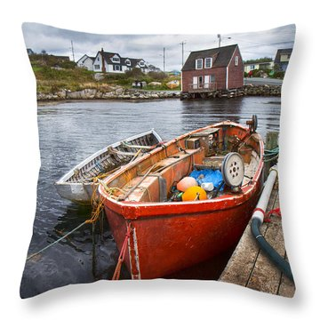 Peggy's Cove 19 Throw Pillow by Betsy Knapp