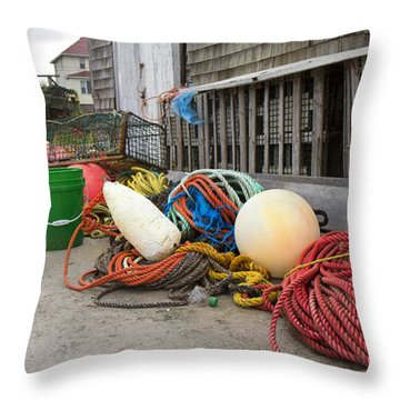 Peggy's Cove 21 Throw Pillow by Betsy Knapp