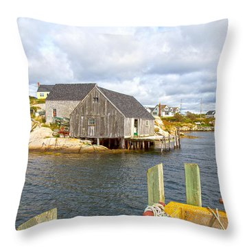 Peggy's Cove 6 Throw Pillow by Betsy Knapp