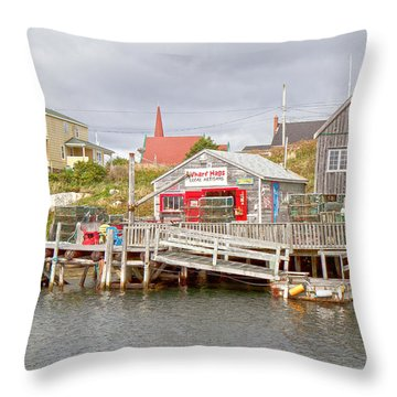 Peggy's Cove 7 Throw Pillow by Betsy Knapp