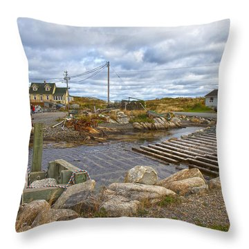 Peggy's Cove 8 Throw Pillow by Betsy Knapp