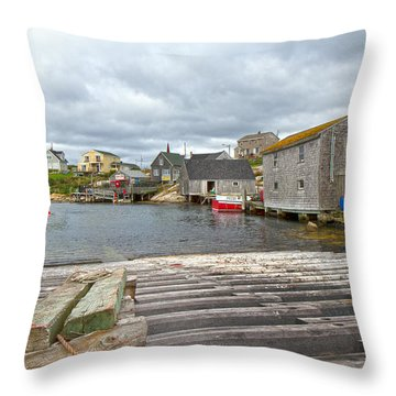 Peggy's Cove 9 Throw Pillow by Betsy Knapp