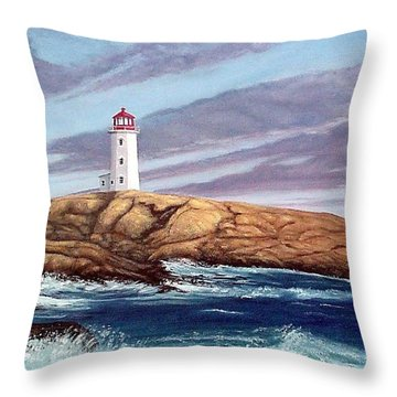 Peggy's Cove Light Throw Pillow