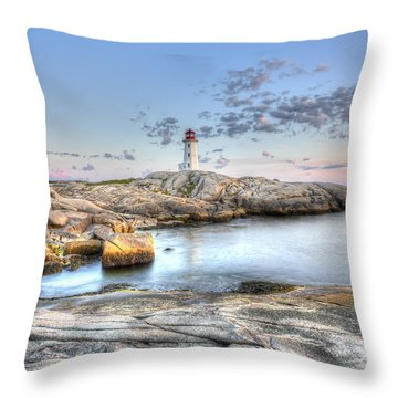 Peggy's Cove Lighthouse Throw Pillow by Shawn Everhart