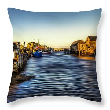 Peggys Golden Moment Throw Pillow