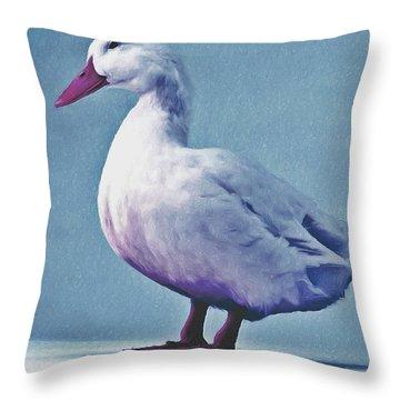 Pekin Ducks 2 Throw Pillow by Lanjee Chee