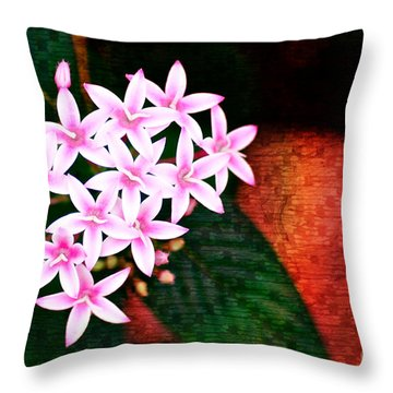 Pelargonium Graveolens II Throw Pillow by Floyd Menezes