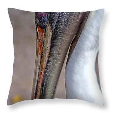 Pelican Throw Pillow by Anne Rodkin
