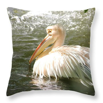 Pelican Bath Time Throw Pillow