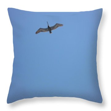 Pelican Throw Pillow by Bill Woodstock