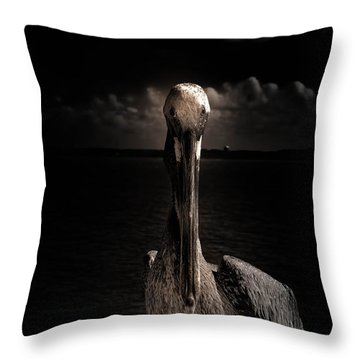 Pelican Throw Pillow by J Riley Johnson