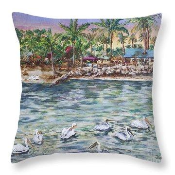 Pelican Medley Throw Pillow