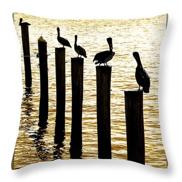 Pelican Patrol Throw Pillow