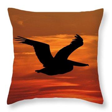 Pelican Profile Throw Pillow