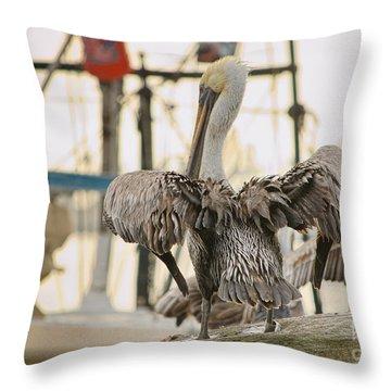 Pelican Strut Throw Pillow