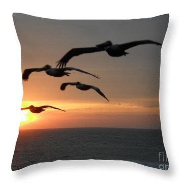Pelican Sun Up Throw Pillow