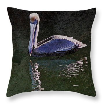 Pelican Zen Throw Pillow by Suzanne Stout