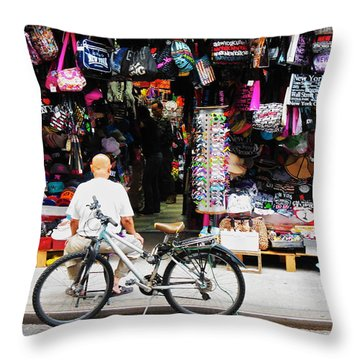 Pell St. Chinatown  Nyc Throw Pillow by Joan Reese