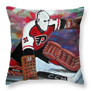 Pelle Lindbergh Throw Pillow by Steve Benton