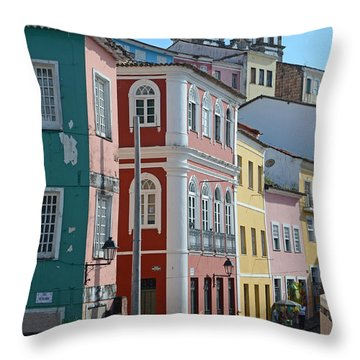 Pelourinho - The Heart Of Salvador Brazil Throw Pillow