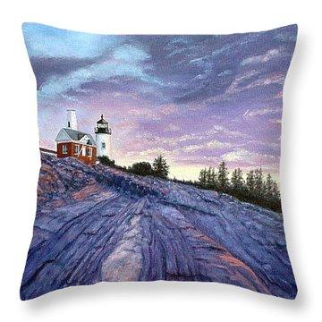 Pemaquid Point Dawn Throw Pillow