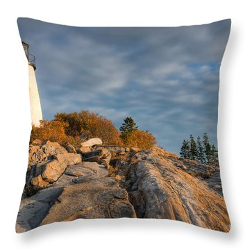 Pemaquid Point Light Vi Throw Pillow by Clarence Holmes