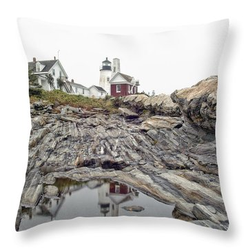 Throw Pillow featuring the photograph Pemaquid Point Lighthouse by Richard Bean