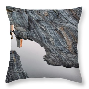 Pemaquid Reflections Throw Pillow by Richard Bean