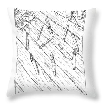 Pen Massacre Throw Pillow
