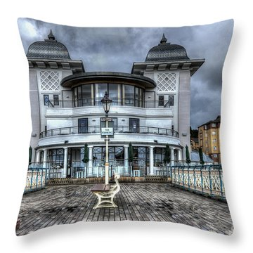 Penarth Pier Pavilion 2 Throw Pillow by Steve Purnell