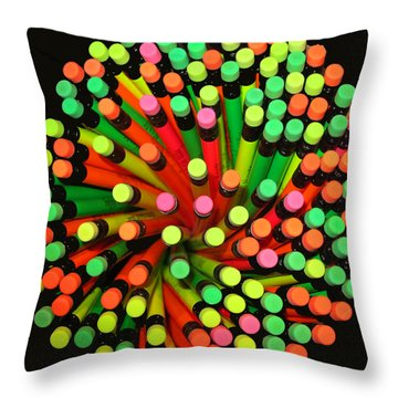 Pencil Blossom Throw Pillow