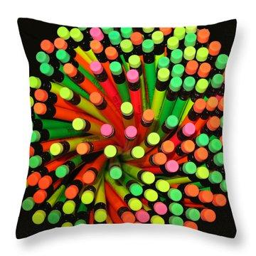 Pencil Blossom Throw Pillow