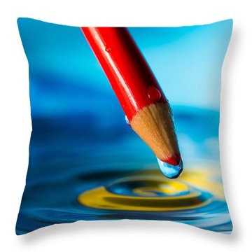 Pencil Water Drop Throw Pillow