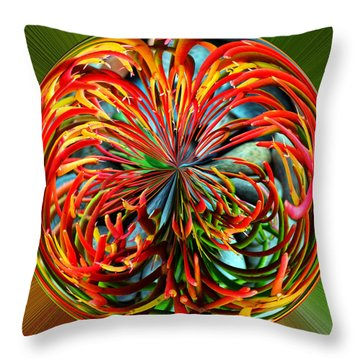 Pencil Tree Ball Throw Pillow