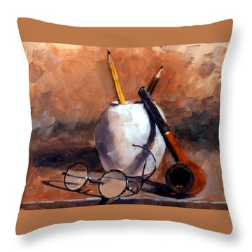 Pencils And Pipe Throw Pillow